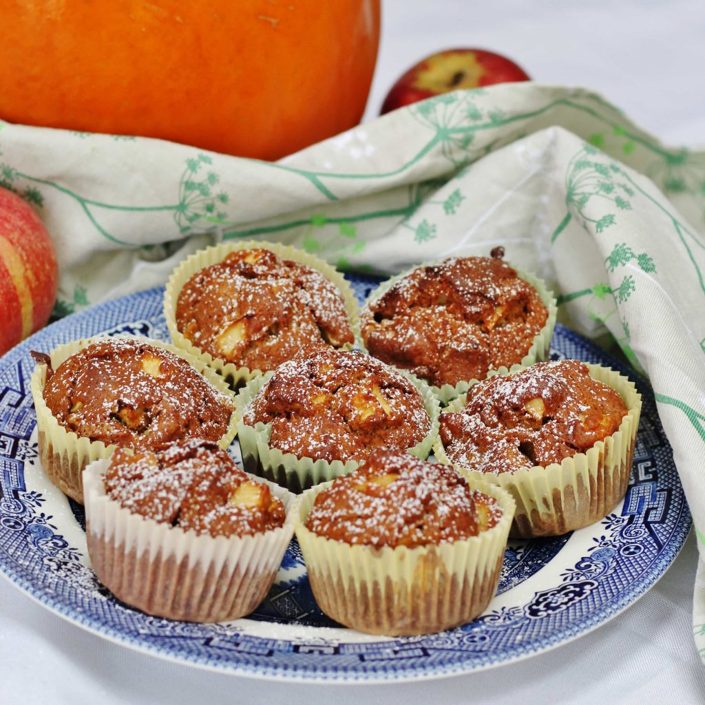apple and pumpkin muffins