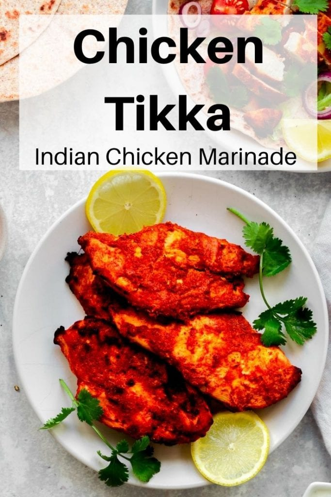 Chicken tikka marinade pin image