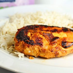 chicken tikka with rice
