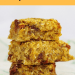 Youwon't find many cereal bars healthier than these nutty chocolate chip pumpkin cereal bars. Packed with oats, pumpkin, coconut and healthy chia seeds, this is a snackyou won't feel guilty about eating! #snacking #cerealbars #pumpkin #chocolatechips #healthy #bakes #baking #afterschoolsnack #chiaseeds #bars #oats