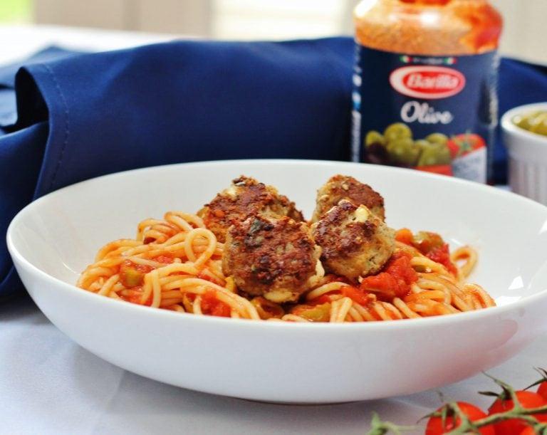 Three easy pasta recipes with Barilla - lamb and feta meatball spaghetti