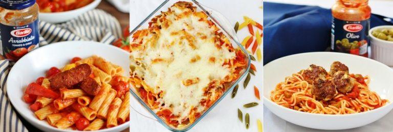 Three easy pasta recipes with Barilla