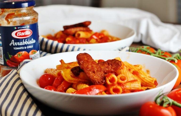 Three Easy Pasta Recipes With Barilla Chorizo Arrabiata