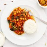 Simply Gluten Free Butternut Squash and spinach curry