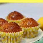 Dairy free lemon muffins pin image