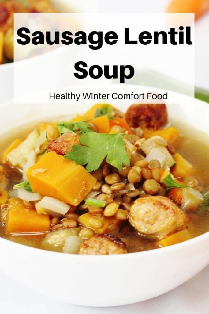 pin image for sausage lentil soup