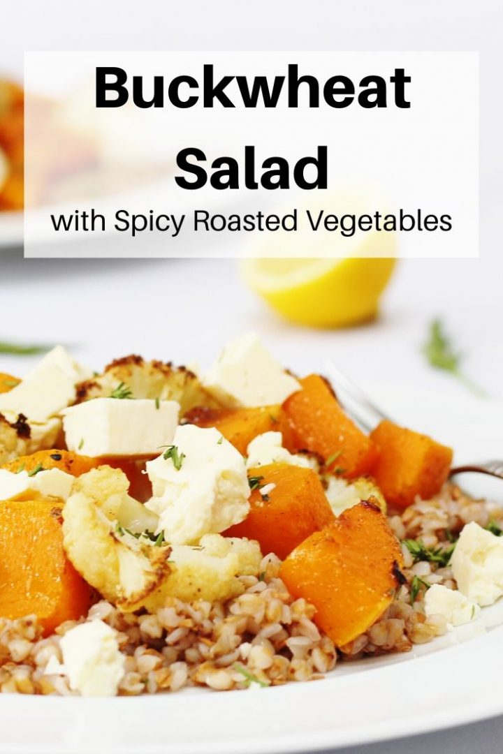 Buckwheat salad with roasted vegetables pin image