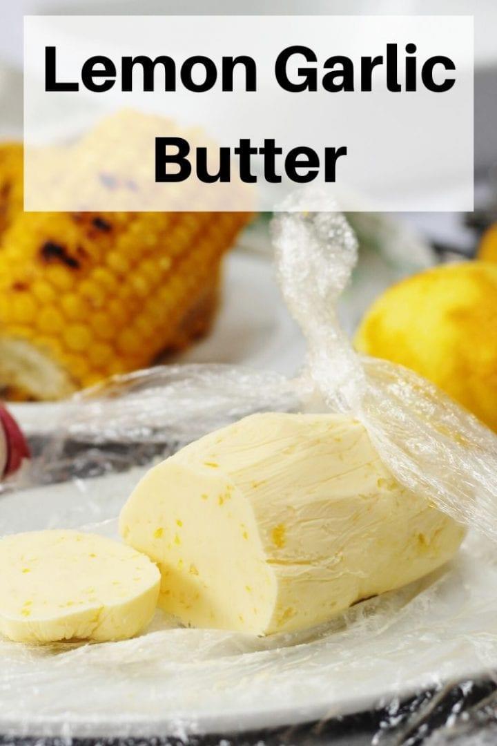 Lemon garlic butter pin image