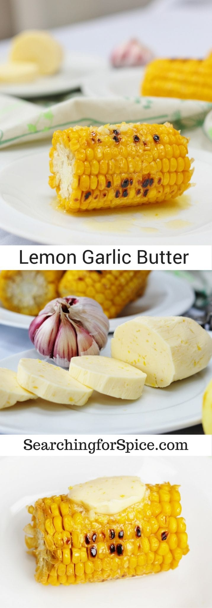 Recipe for zesty lemon garlic butter that's perfect on corn on the cob, green vegetables, fish or chicken