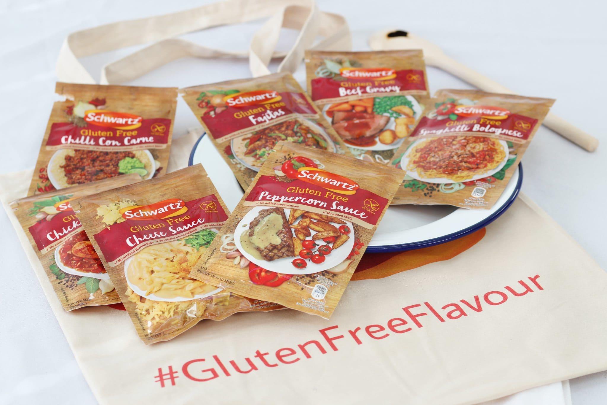 Schwartz gluten free recipe mixes