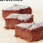 Pin image for sweet potato brownies