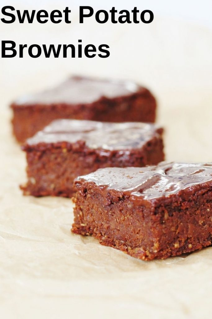 Pin image for sweet potato brownies