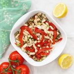 Spanish bean salad with red peppers