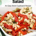 Spanish bean salad pin image