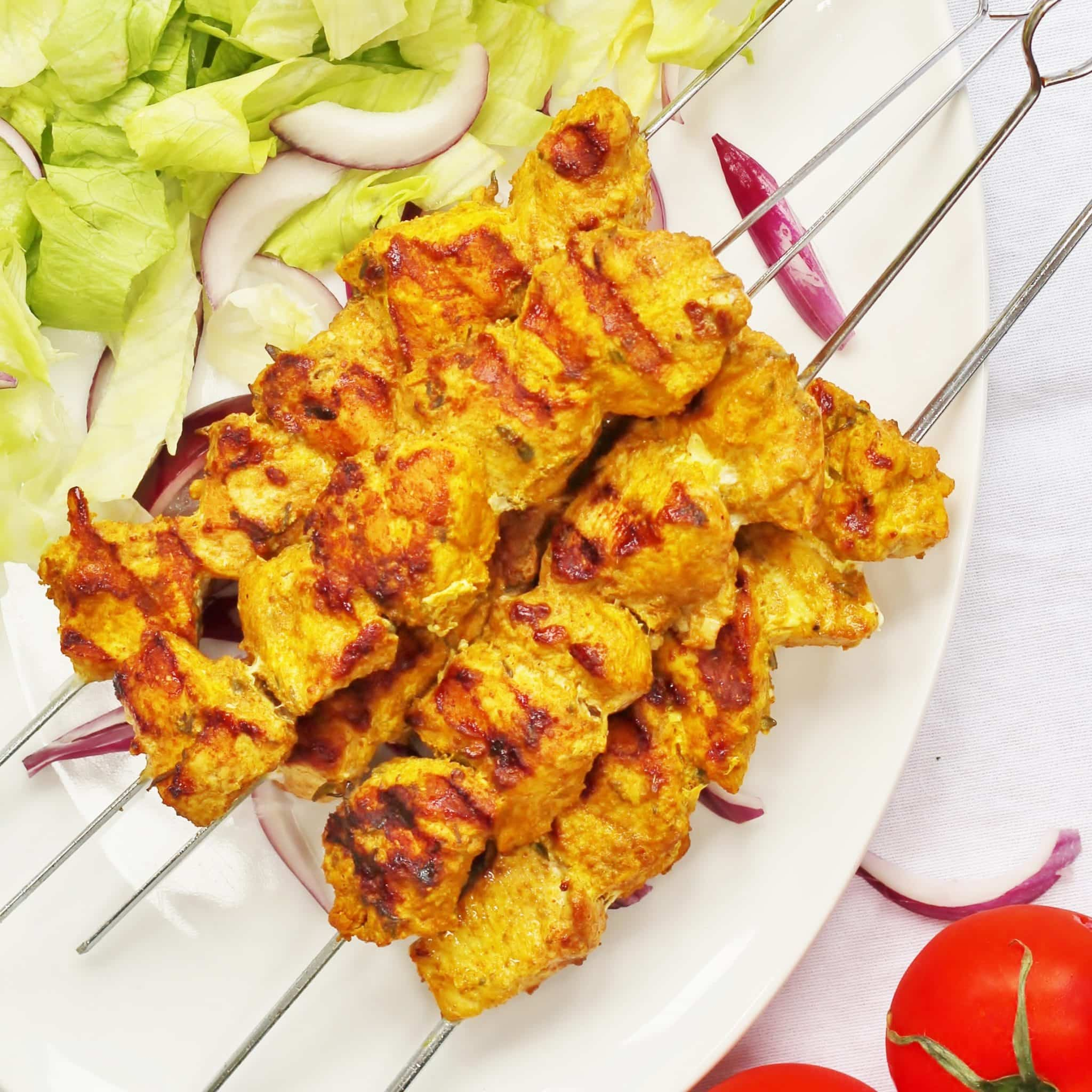 Spanish chicken kebabs perfect for the bbq searching for spice spanish chicken kebabs forumfinder Image collections