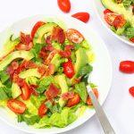BLT salad on a plate