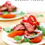 beef tacos pin image