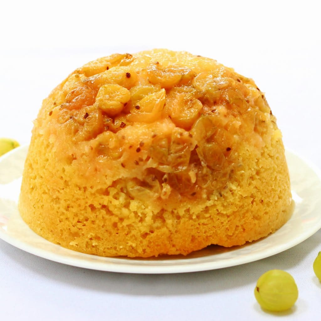 Whole slow cooker gooseberry steamed sponge pudding