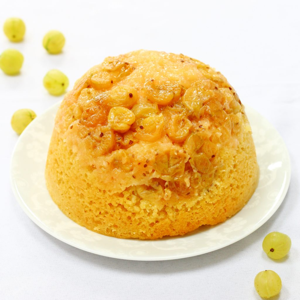 Slow cooker steamed gooseberry pudding