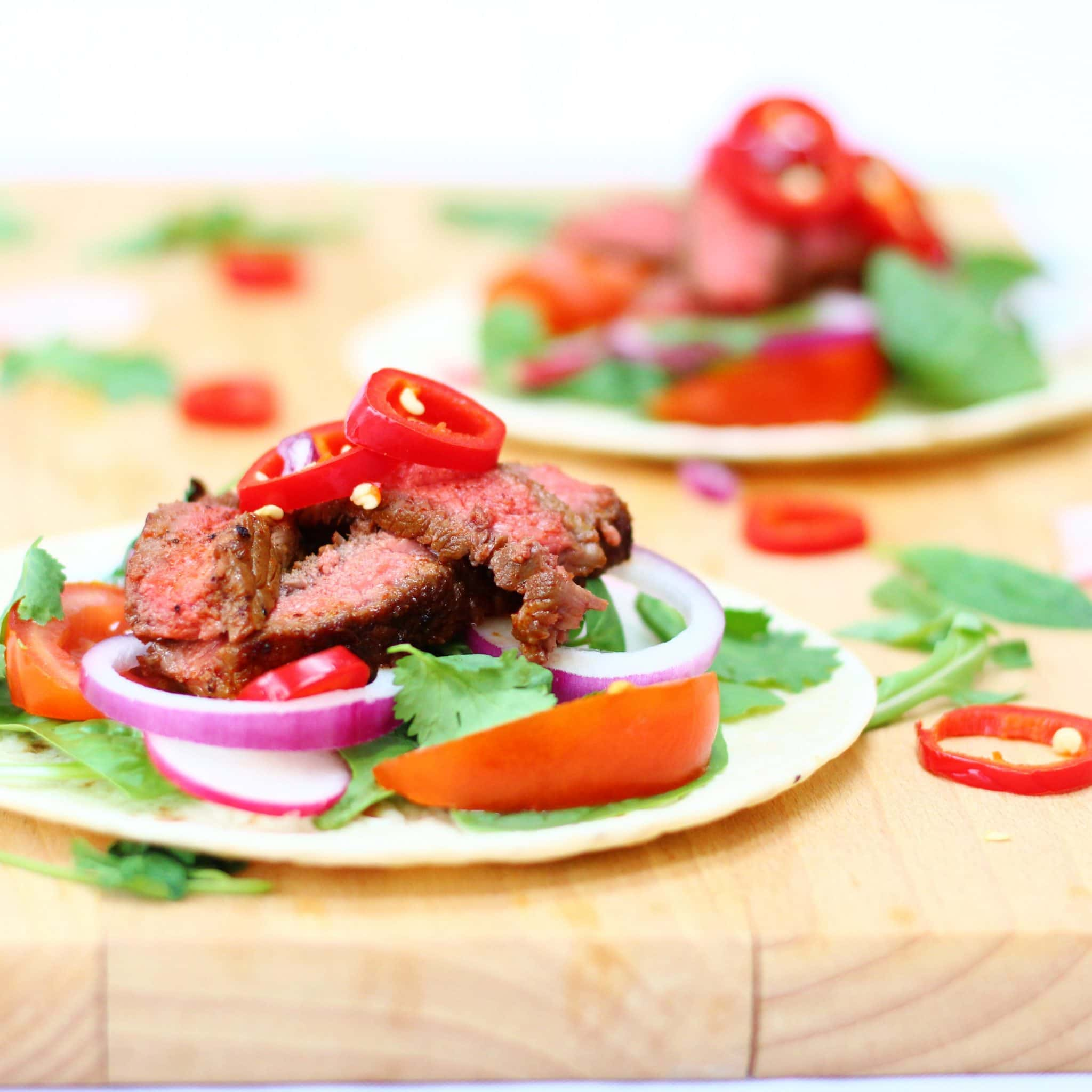 Barbacoa beef steak tacos