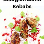 Georgian lamb kebabs pin image