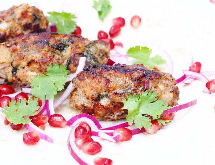 Kebabi: Georgian lamb kebabs from Supra A Feast of Georgian Cooking