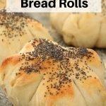 white bread rolls pin image