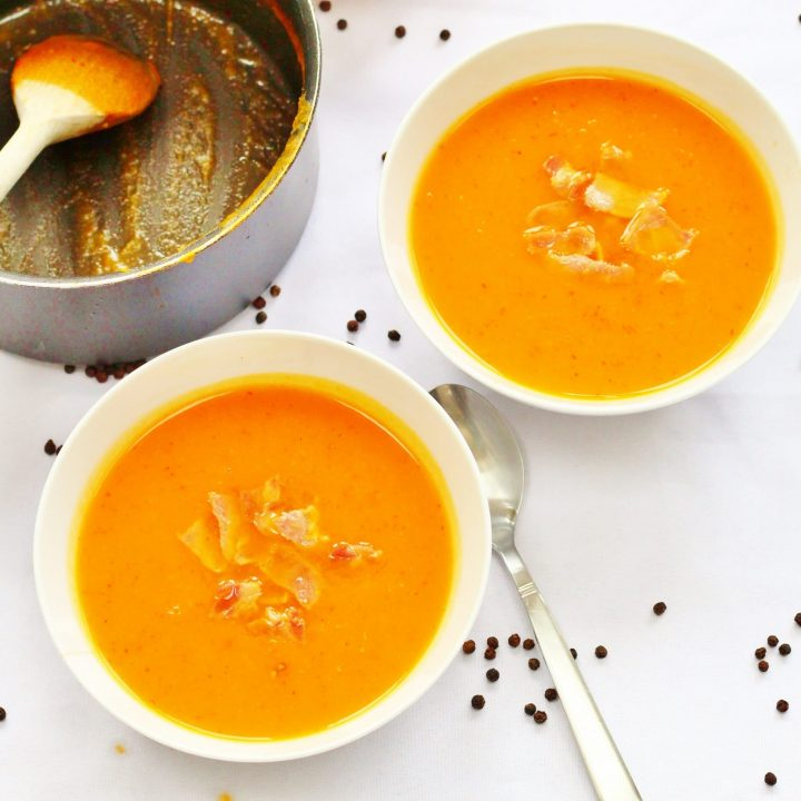 Butternut squash and bacon soup