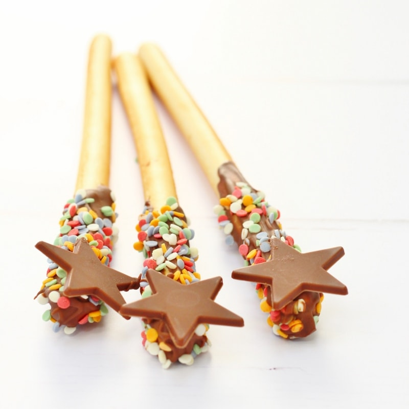 Bread stick wands and fireworks