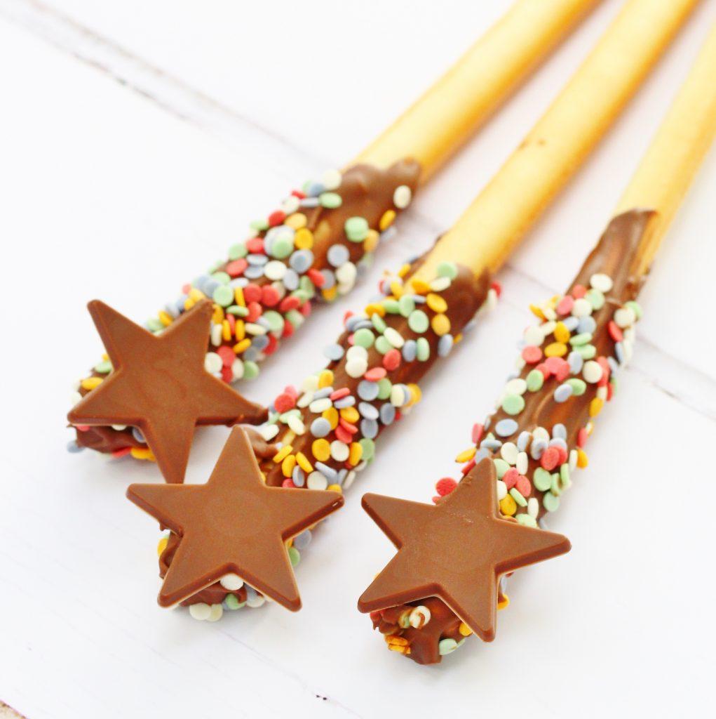 Breadstick wands or fireworks