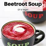Pin image roasted garlic and beetroot soup