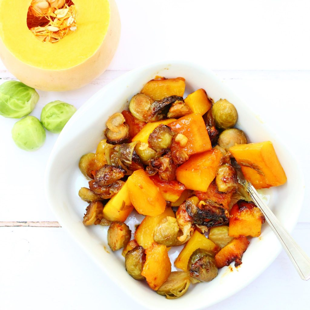honey mustard sprouts and butternut squash