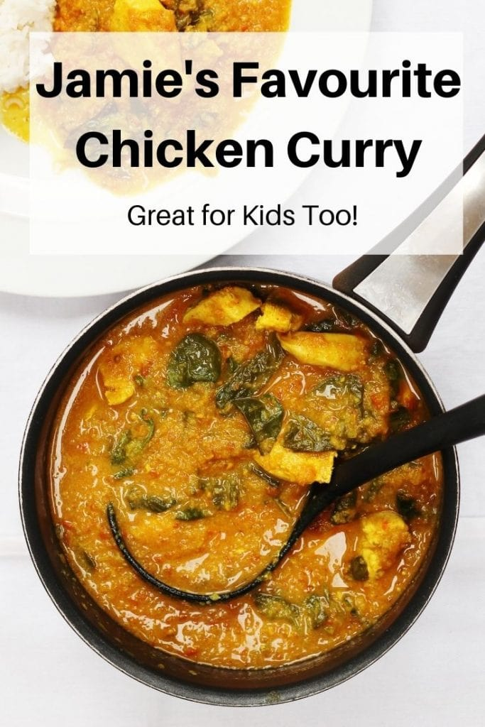 Jamie's chicken curry pin image