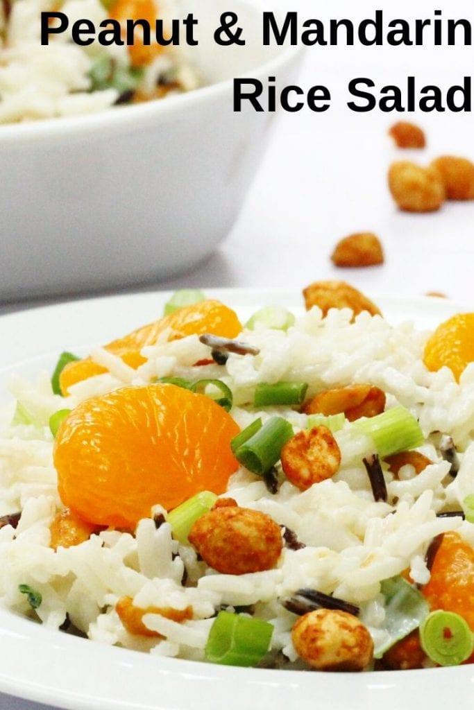 peanut and mandarin orange rice salad