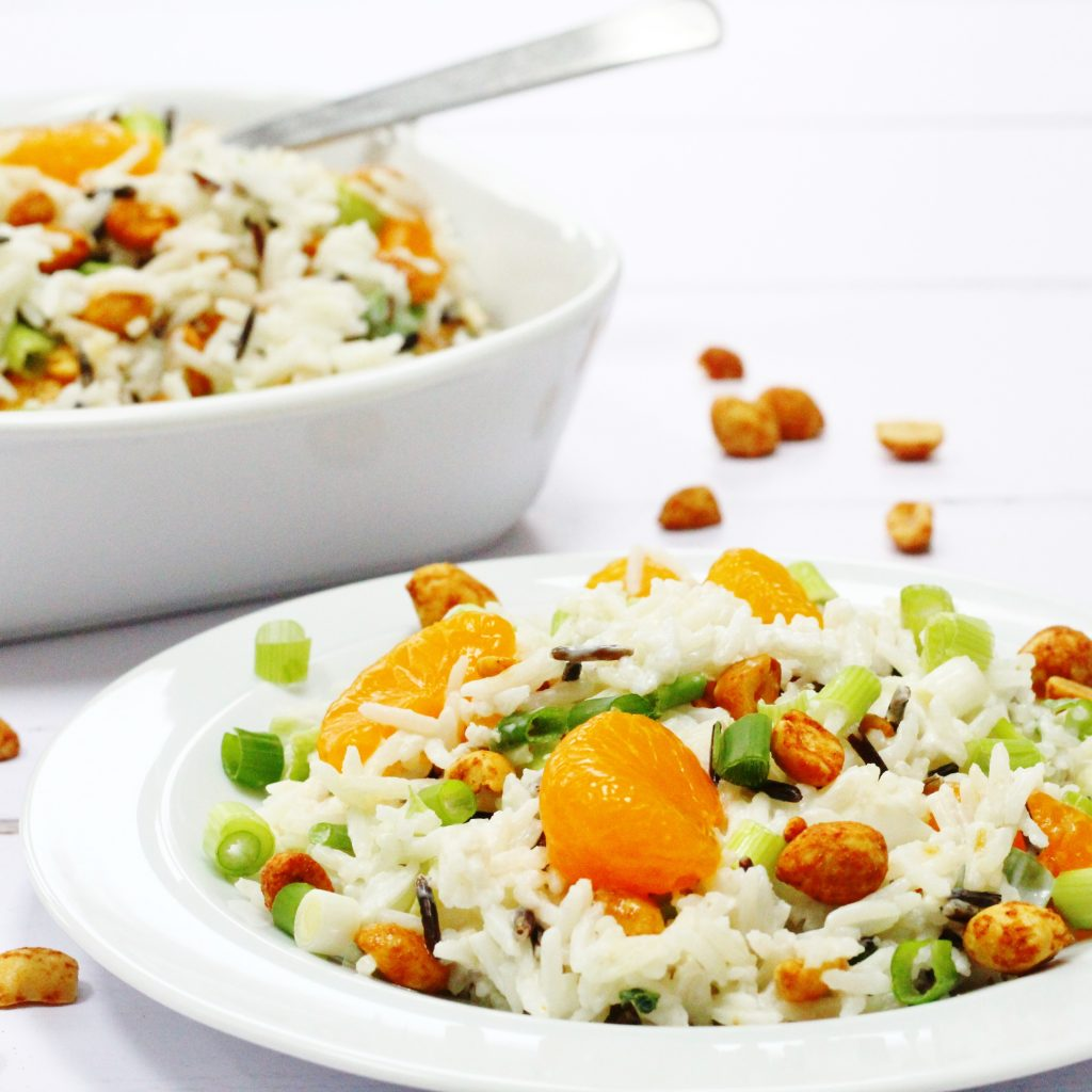 Winter rice salad