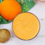 Orange smoothie with carrot and ginger