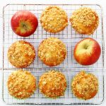 Spiced apple crumble muffins with a cinnamon crumble topping