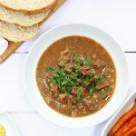 Beery mustard beef stew