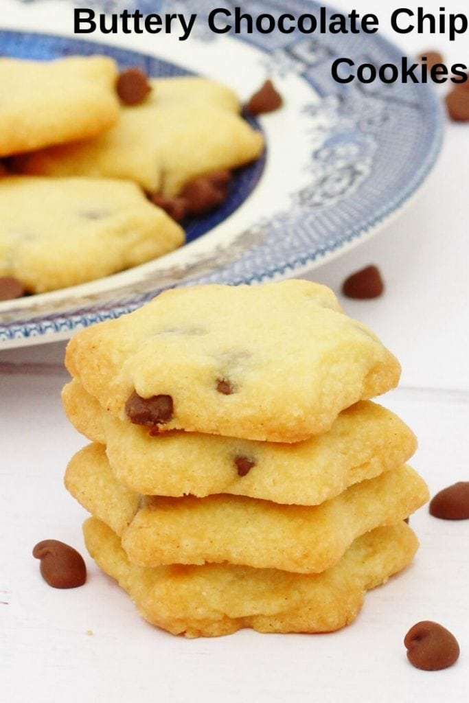 Stack of star shaped chocolate chip biscuits