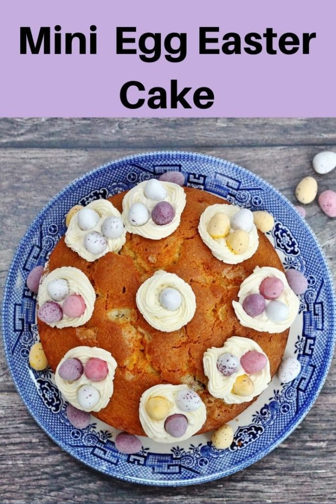 Mini egg easter cake pin image