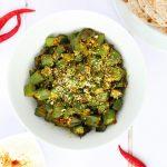 Dry curried okra