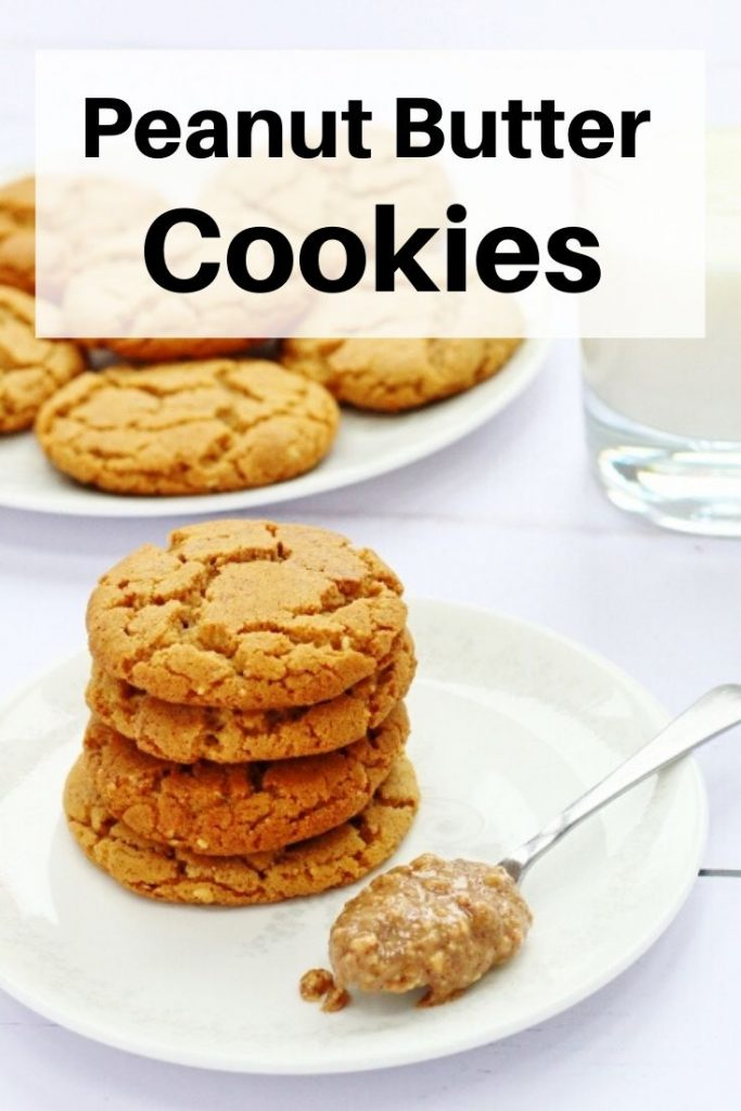 Peanut butter cookies pin image