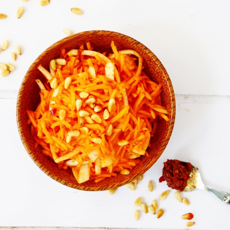 Carrot Salad with harissa dressing