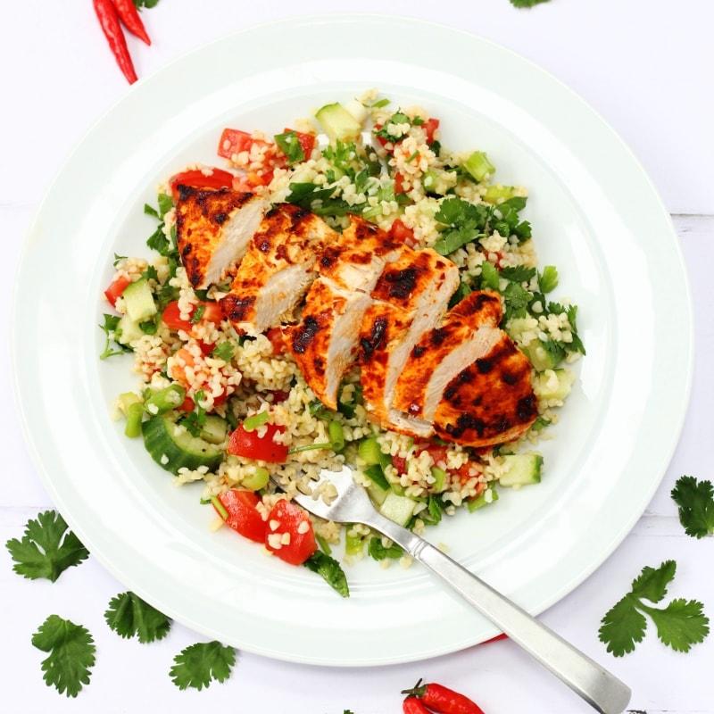 Harissa chicken salad: main course salad recipes