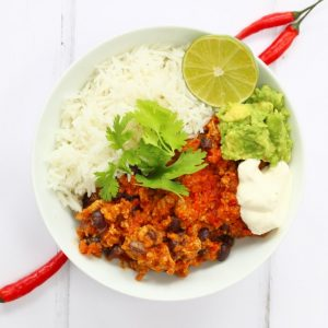 Chilli con carne with hidden vegetables