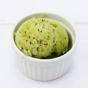 scoop of kiwi sorbet