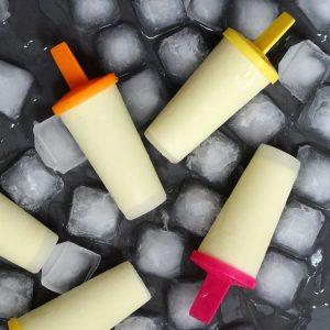 homemade coconut milk ice lollies with pineapple
