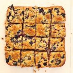 Blackberry and coconut tray bake