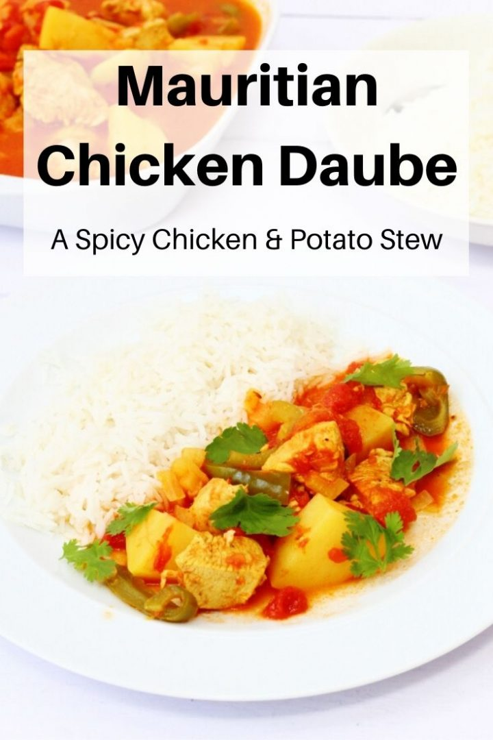 Mauritian chicken daube pin image