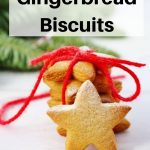 soft chewy gingerbread biscuits pin image
